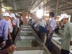 Huyện ủy, hội nông huyện Trảng Bom tỉnh Đồng Nai đến trang trại lươn giống